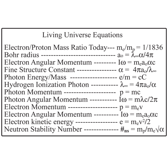 Living Universe Equations